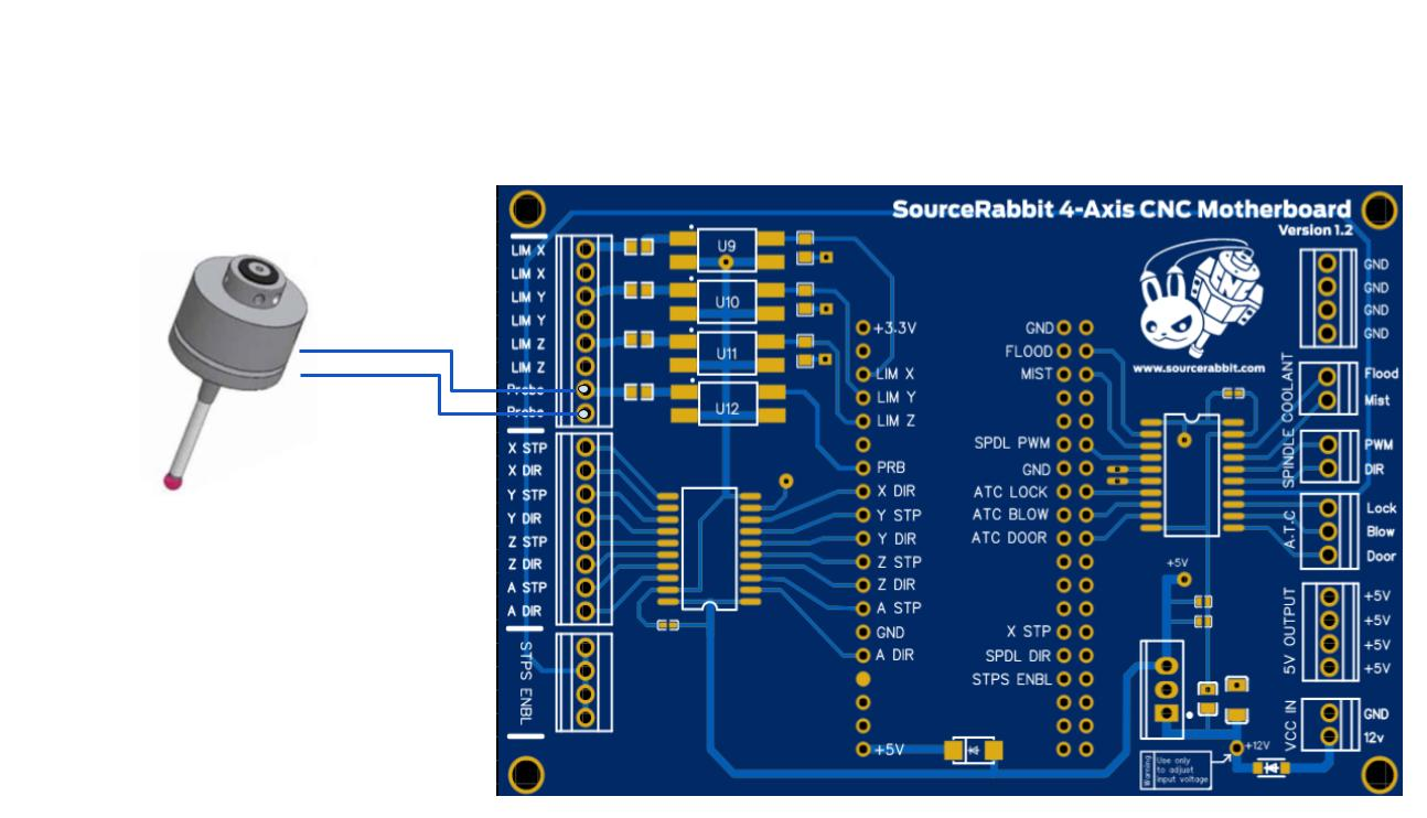 Σύνδεση 3D Touch Probe με την 4-Axis CNC Motherboard