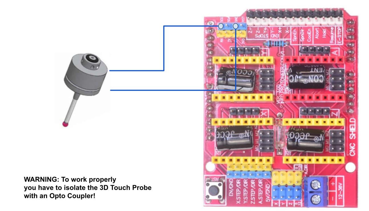 3D Touch Probe wiring with Arduino Uno and CNC Shield